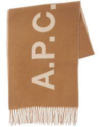 A.P.C. Schal Aus Wolljacquard - Mehrfarbig