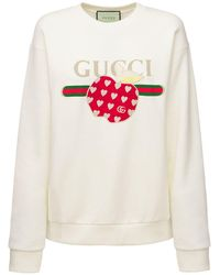 Gucci Свитшот Из Плотного Хлопкового Джерси - Многоцветный