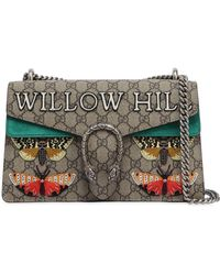 Gucci Small Dionysus Willow Gg Supreme Bag - Green