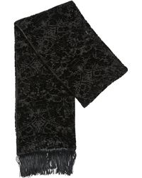 The Kooples - Fringed Jacquard Viscose & Silk Scarf - Lyst