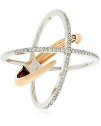 Jezebel London - Hoxton Gold & Diamond Ring - Lyst