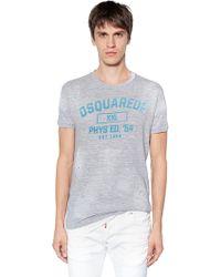 DSquared² - T-shirt Aus Baumwollmischjersey Mit Druck - Lyst
