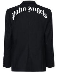 Palm Angels - Куртка Из Смешанной Шерсти С Принтом - Lyst
