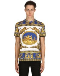 Versace - Signature Baroque Printed Jersey T-shirt - Lyst