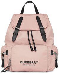 Burberry Рюкзак Из Нейлона - Розовый