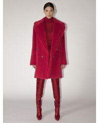 Max Mara Пальто Из Альпака - Красный