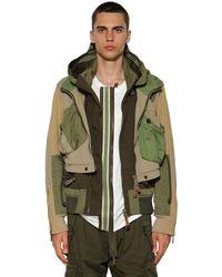 DSquared² Куртка-бомбер Из Хлопковой Саржи - Зеленый