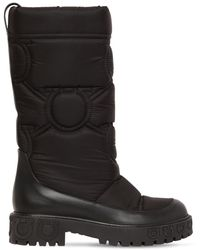 Ferragamo 30mm Ashley Quilted Nylon Snow Boots - Black