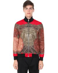 Givenchy Baroque Dollar Techno Jersey Jacket - Red