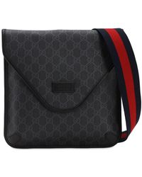 Gucci Gg Supreme Crossbody Bag - Black