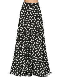 Carolina Herrera ポルカドットクレープパンツ - ブラック