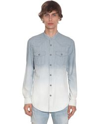 Balmain - Рубашка Из Денима В Полоску - Lyst