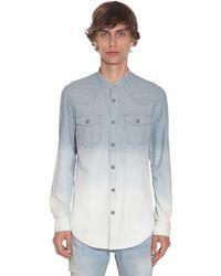 Balmain Рубашка Из Денима В Полоску - Синий