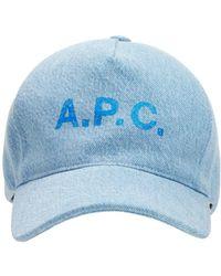A.P.C. Casquette コットンキャップ - ブルー