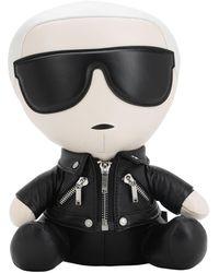 Karl Lagerfeld Ikonik Karl Collectible レザードール - ブラック