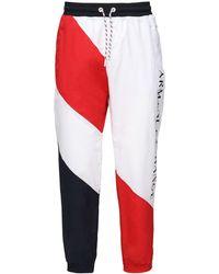 Armani Exchange Nylon Track Trousers - Red