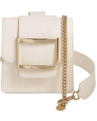 Roger Vivier Semi Patent Leather Belt Bag - Natural