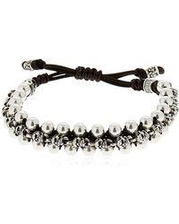 Cantini Mc Firenze - Skulls & Spheres Silver Bracelet - Lyst