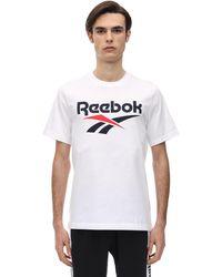 "Reebok T-shirt ""cl F Vector"" In Jersey Di Cotone - Bianco"