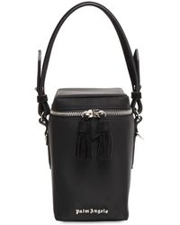 Palm Angels Nylon Top Handle Box Bag - Black