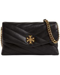 Tory Burch Kira Quilted Leather Chain Wallet Bag - Черный