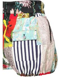 Dolce & Gabbana - Patchwork コットンポプリンショートパンツ - Lyst
