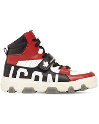 """DSquared² Sneakers Alte """"basket Icon"""" In Pelle - Multicolore"""
