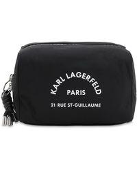 Karl Lagerfeld Rue St-guillaume ナイロンコスメバッグ - ブラック