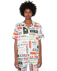 Kirin Logo Printed Cotton Drill Shirt - Mehrfarbig