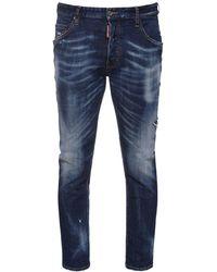 DSquared² Jeans Skater In Denim Di Cotone 16cm - Blu