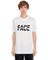 Facetasm Camiseta De Jersey De Algodón Estampada - Blanco