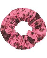 Ganni Scrunchie Aus Bio-baumwollpopeline - Pink