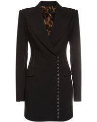 Dolce & Gabbana テーラードウールブレンドジャケット - ブラック