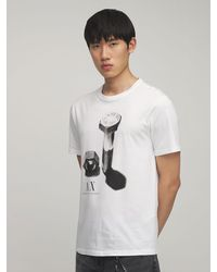 Armani Exchange - コットンジャージーtシャツ - Lyst