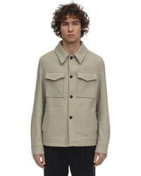 AMI - ウールフェルテッドシャツジャケット - Lyst