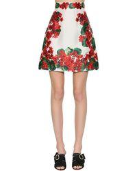 Dolce & Gabbana - シルクミカド Aラインミニスカート - Lyst