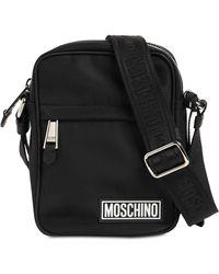 Moschino ナイロンクロスボディバッグ - ブラック