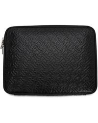 Burberry Monogram Leather Digital Case - Schwarz