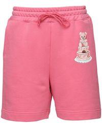 Moschino Teddy Cake ジャージーショートパンツ - ピンク