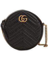 "Gucci Mini Ledertasche ""circle Gg Marmont"" - Schwarz"