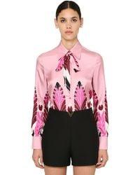 Valentino - シルクツイルシャツ - Lyst