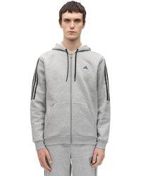 adidas Originals コットンブレンドスウェットフーディ - グレー