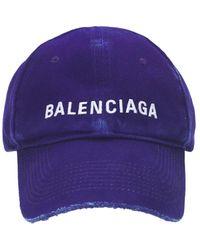 Balenciaga Бейсбольная Кепка Из Деним - Синий