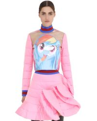 Fyodor Golan - Pony Printed Plastic & Quilted Satin Top - Lyst
