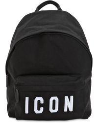 DSquared² Рюкзак Icon Из Нейлонового Канваса С Аппликациями - Черный
