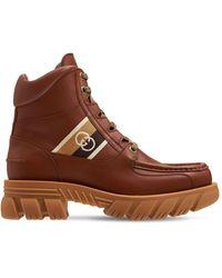 Gucci Stiefel Aus Gg-gewebe Und Leder - Braun
