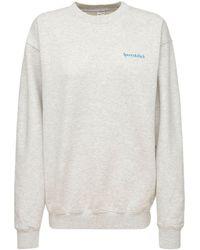 Sporty & Rich Drink Water Crewneck Sweatshirt - Grey