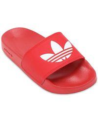 adidas Originals レッド Adilette Lite プール スライド
