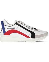 "DSquared² Niedrige Sneakers Aus Ledr ""551 Bumpee"" - Weiß"