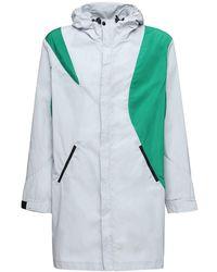 Asics Kiko Hooded Color Block Long Jacket - Mehrfarbig